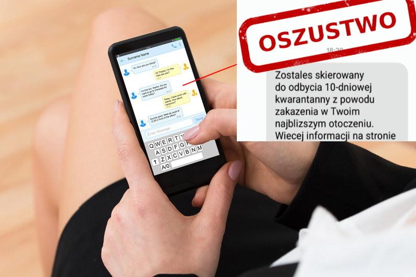 Należy uważać na SMS o takiej treści. Fot. Picsel/CERT Polska /123RF/PICSEL