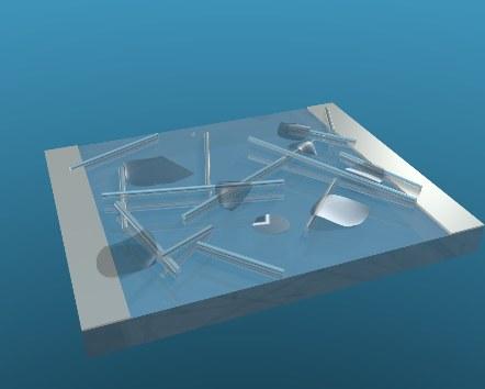 Nanorurki srebra i płatki grafenu w strukturze nowego materiału /Dr Matthew Large /Materiały prasowe