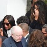 Naomi Campbell cała we łzach na pogrzebie przyjaciela