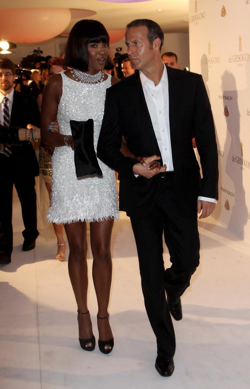 Naomi Campbell z Vladimirem Doroninem  /Getty Images/Flash Press Media