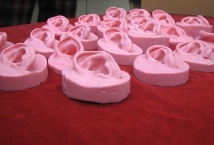 Naotaka Tsunoda i jego zespół wykorzystuje te silikonowe odlewy do testowania słuchawek. /INTERIA.PL