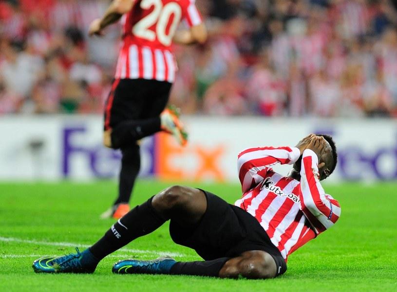 Napastnik Athletic Bilbao Inaki Williams znokautował kolegę podczas treningu /AFP