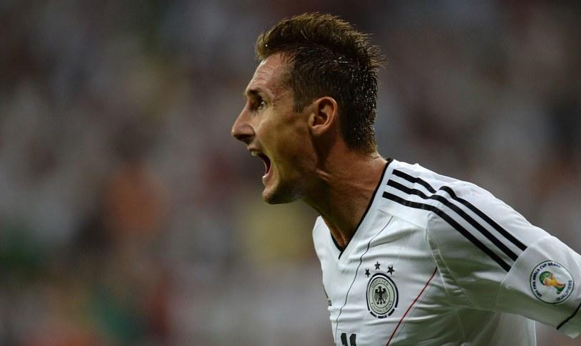 Napastnik piłkarskiej reprezentacji Niemiec, Miroslav Klose /AFP