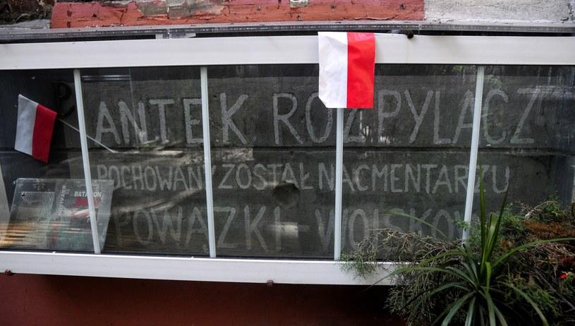 Napis wykonany w 1945 roku ręka matki Antka Rozpylacza na murze kamienicy przy ulicy Brackiej /Wlodzimierz Wasyluk /East News