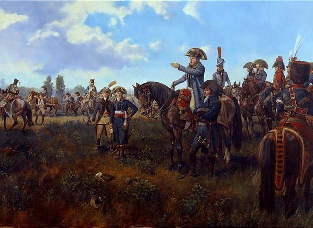 Napoleon i generał Louis Desaix w bitwie pod Marengo /Polska Zbrojna