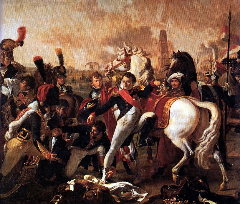 Napoleon ranny pod Ratyzboną, mal. C. Gautherol. Dezydery Chłapowski, w mundurze szwoleżera, widoczny po prawej /INTERIA.PL