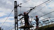 Naprawa uszkodzonej trakcji w Smętowie w Pomorskiem