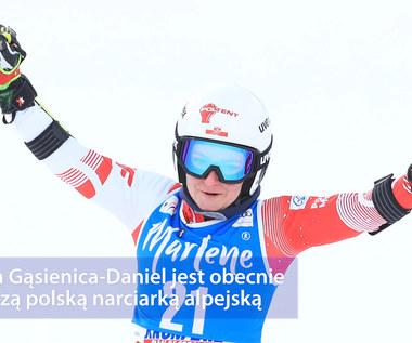 Narciarstwo alpejskie. Maryna Gąsienica-Daniel wróciła na stok po długiej i żmudnej rehabilitacji. Wideo