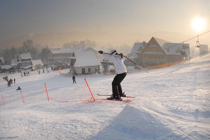 Narciarze na stoku Harenda Ski Zakopane /Adrian Gladecki /Reporter