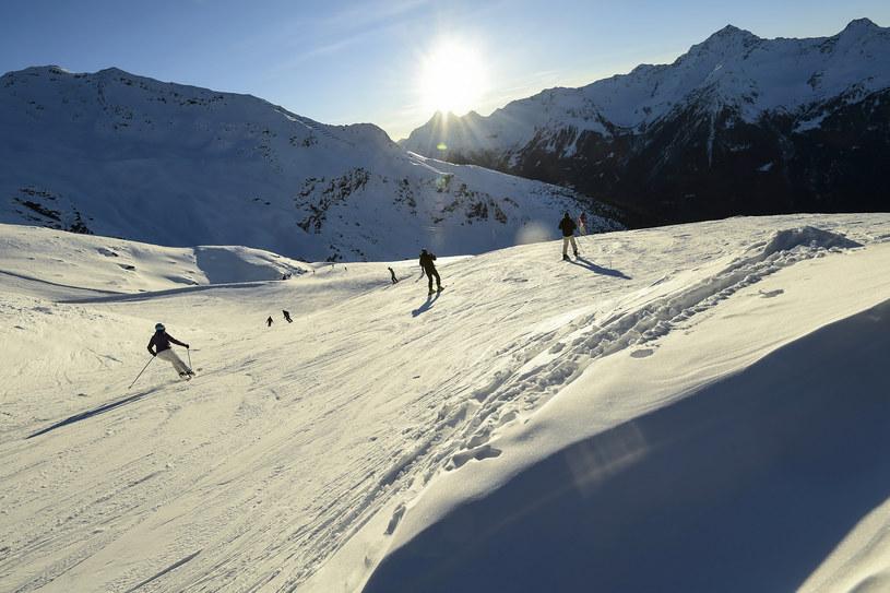 Narciarze we włoskich Alpach, Bormio /MIGUEL MEDINA/AFP /AFP
