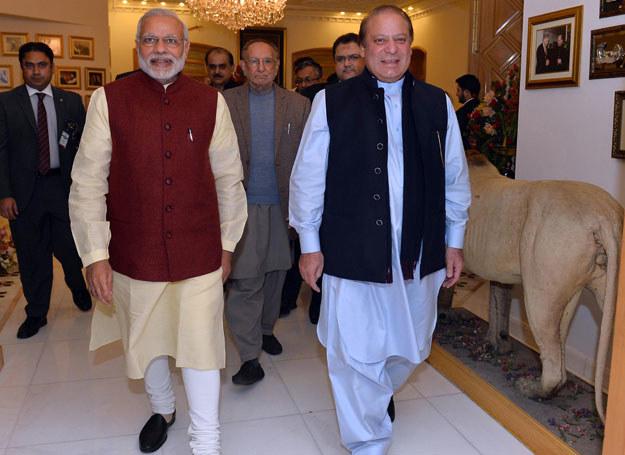 Narendra Modi i Nawaz Sharif /AFP PHOTO / PIB /AFP