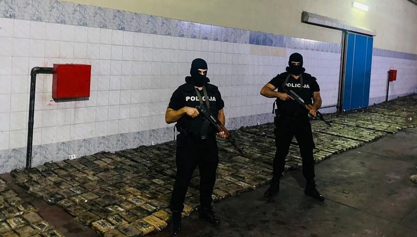 Narkotyki były ukryte w transporcie bananów /Uprava policije Crne Gore /Twitter