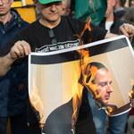 Narodowiec spalił zdjęcie prezydenta Wrocławia