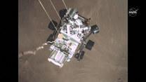 NASA opublikowała nagrania z lądowania łazika Perseverance na Marsie