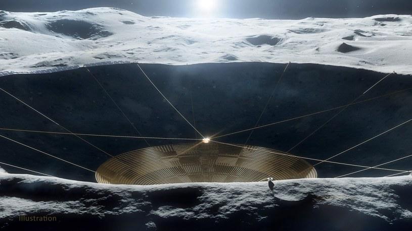 NASA przeznaczyła środki na budowę pierwszego radioteleskopu w kraterze na Księżycu /Geekweek