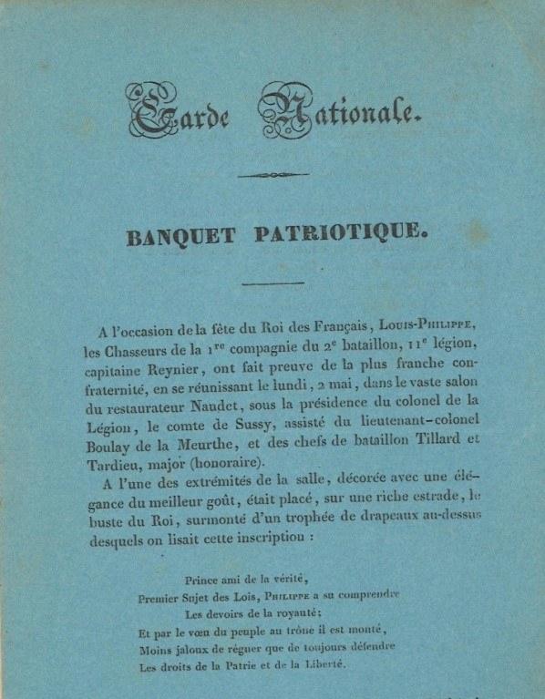"""""""Nasi Bracia Polacy"""" w broszurze z roku 1831 wydanej z okazji uroczystości świętego Filipa obchodzonej 1 maja, święta króla Ludwika-Filipa /archiwum autora"""