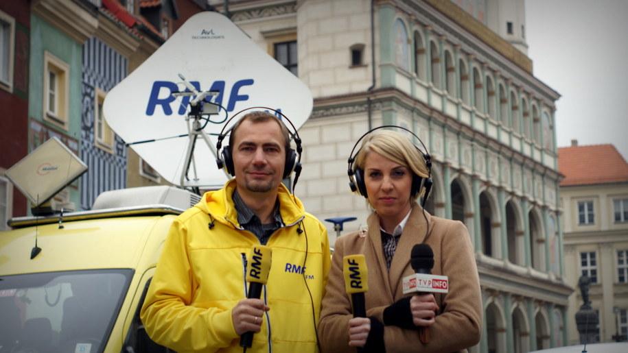 Nasi dziennikarze - Małgorzata Dzieciniak i Adam Górczewski w Poznaniu /Michał Dukaczewski,  /RMF FM