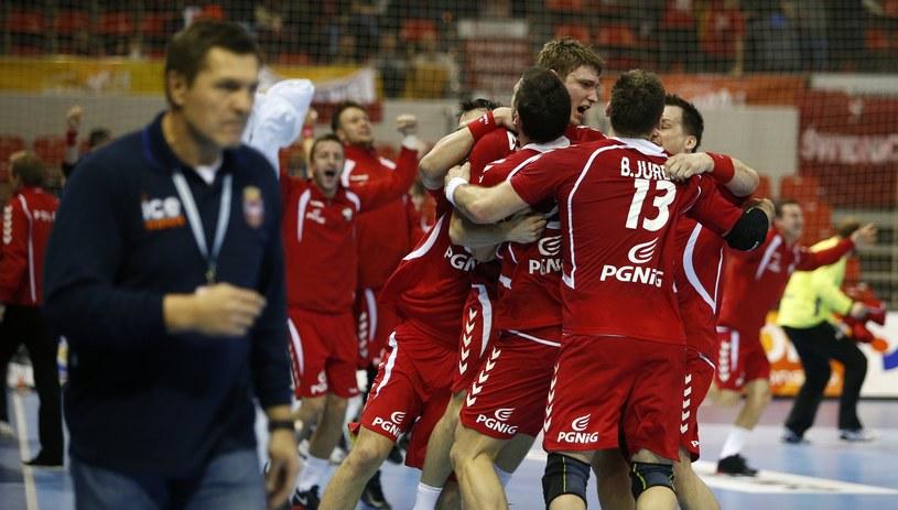 Nasi szczypiorniści po wygranej z Serbią /AFP
