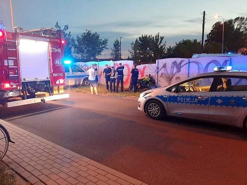 Nastolatek trafił do szpitala /Straż Pożarna /