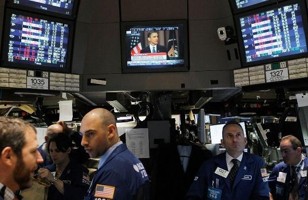 Nastrojów na rynku nie była w stanie poprawić obniżka stóp proc. przez Radę Polityki Pieniężnej /AFP