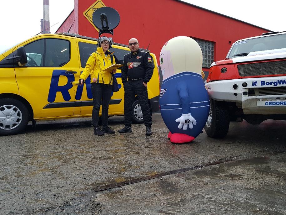 Nasza reporterka Ania Kropaczek i szef zespołu RMF 4RACING Team Rafał Płuciennik /RMF FM