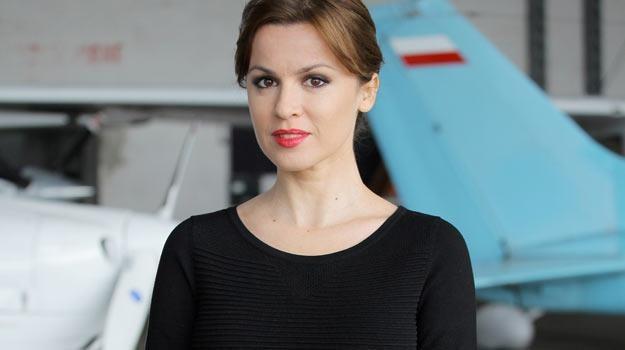"Natalia Avelon na planie ""Na krawędzi 2"". /Polsat"