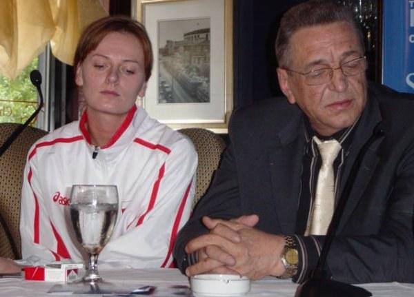 """Natalia Bamber i Andrzej Niemczyk na konferencji prasowej w hotelu """"Seneca"""" w Chicago /Przemysław Garczarczyk"""