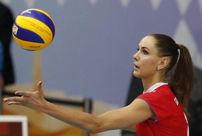 Natalia Gonczarowa, reprezentantka Rosji w meczu z Bułgarią na ME /PAP/EPA