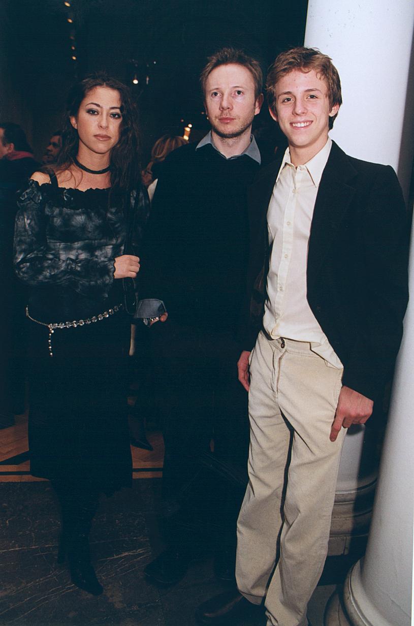 Natalia Kukulska, Michał Dąbrówka, Piotr 'PeKay' Kukulski w 2002 roku /Niemiec /AKPA