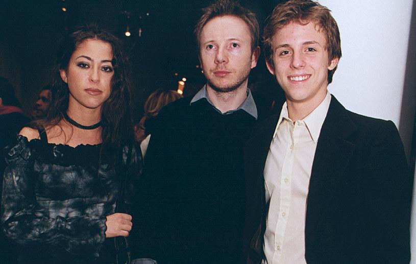 Natalia Kukulska z mężem i bratem, 2002 rok /Niemiec /AKPA