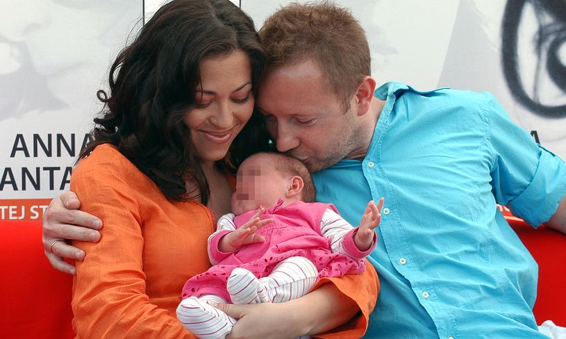 Natalia Kukulska z mężem Michałem i córką Anią /Mikulski /AKPA