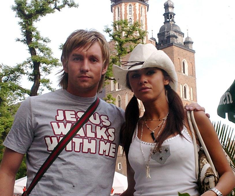 Natalia Siwiec z narzeczonym, Damianem Gorawskim, rok 2006 /Wacław Klag /East News