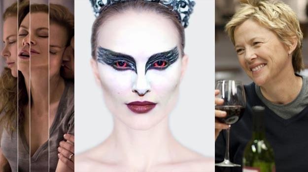 Natalie Portman (C) jest faworytką Oscarów. Nicole Kidman (L) i Annette Bening (P) są bez szans /materiały prasowe