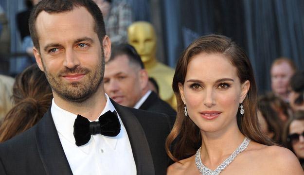 Natalie Portman i jej mąż Benjamin Millepied /AFP