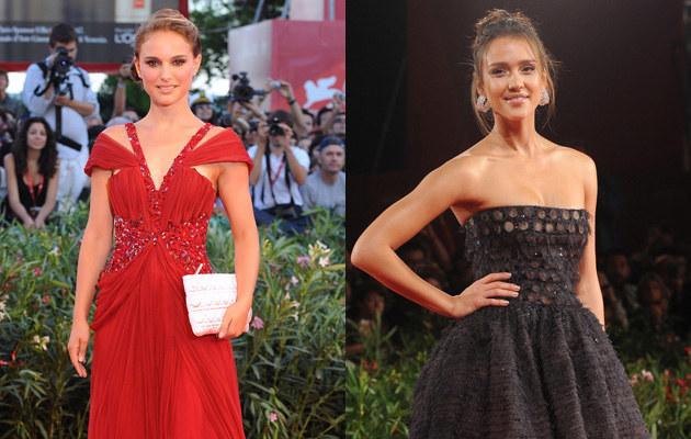 Natalie Portman i Jessica Alba na festiwalu w Wenecji  /Splashnews