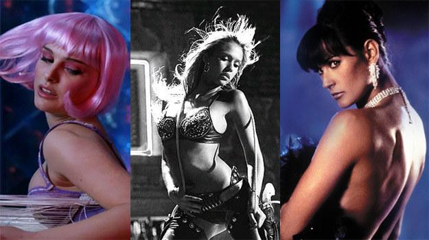 Natalie Portman, Jessica Alba i Demi Moore mają na koncie słynne filmowe striptizy. /materiały prasowe
