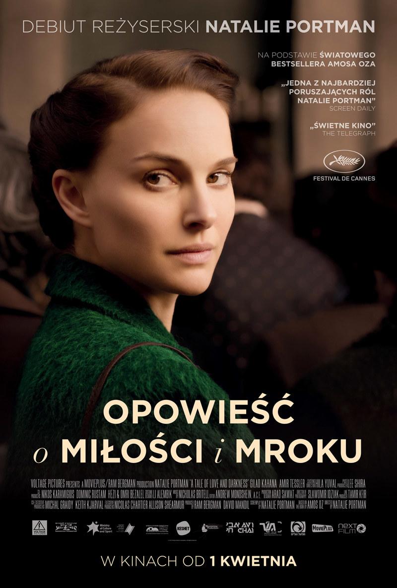 """Natalie Portman na plakacie """"Opowieści o miłości i mroku"""" /materiały dystrybutora"""