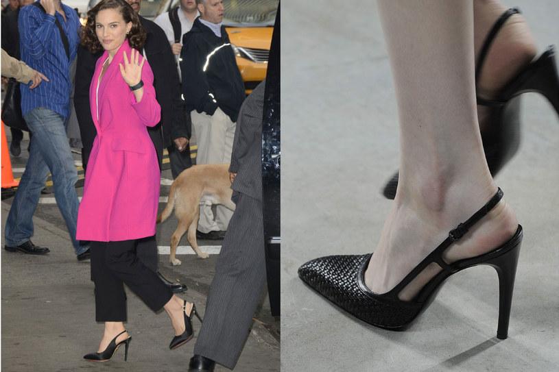 Natalie Portman w szpilkach Diora i szpilki z pokazu Bottega Venetta - trend w stylu lat 50. / fot. Reporter/EastNews Zeppelin /Styl.pl
