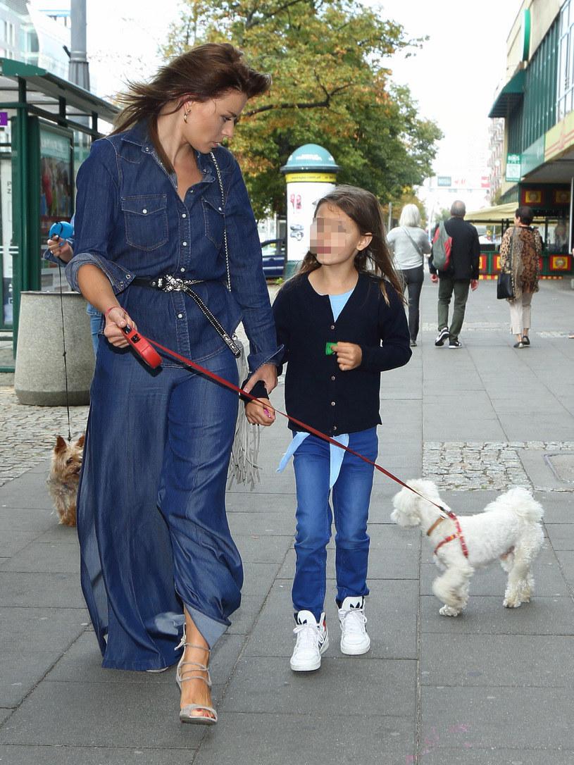 Natasza Urbańska z córką /Agencja FORUM