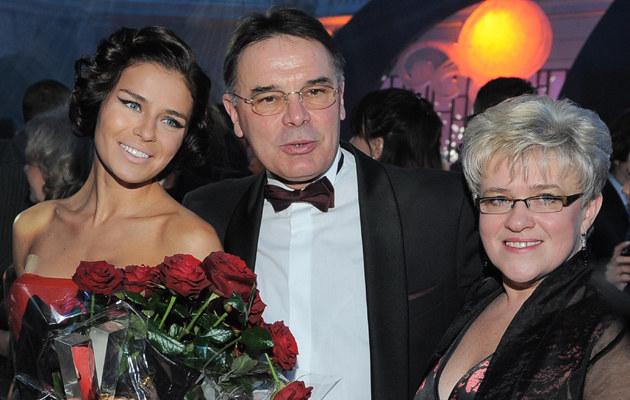 Natasza Urbańska z rodzicami, 2008 r. /Andras Szilagyi /MWMedia