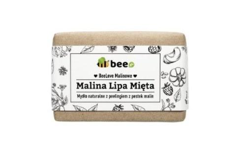 Naturalne mydło peelingujące BeeLoveMalinowe z maliną, lipą i miętą stworzone we współpracy z Mydlarnią 4 Szpaki /INTERIA/materiały prasowe