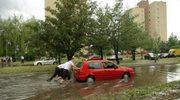 Nawałnica z gradobiciem przeszła nad Krakowem
