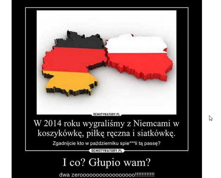 Nawet piłkarze po raz pierwszy w historii pokonali Niemców /INTERIA.PL