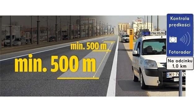 Nawet trzy fotoradary będzie mógł spotkać kierowca za znakiem ostrzegającym o kontroli prędkości. /Motor
