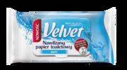 Nawilżany papier toaletowy Velvet® Pure