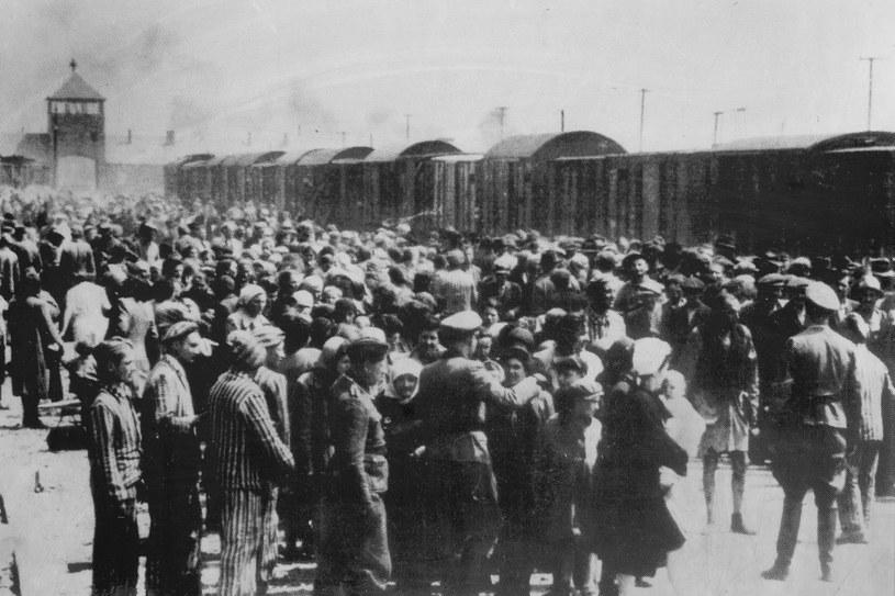 Nazistowski niemiecki obóz koncentracyjny KL Auschwitz /Reprodukcja: Marek Skorupski /Agencja FORUM