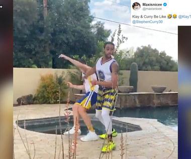 NBA. Parodia słynnego duetu Curry - Thompson. Koszykarze Warriors docenili. Wideo