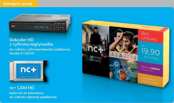 """""""nc+ telewizja na kartę"""" będzie dostępna już od 19,90 zł miesięcznie, bez konieczności podpisywania umowy /materiały prasowe"""