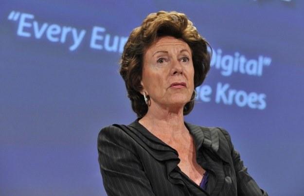 Neelie Kroes - unijna pogromczyni monopolistów /AFP