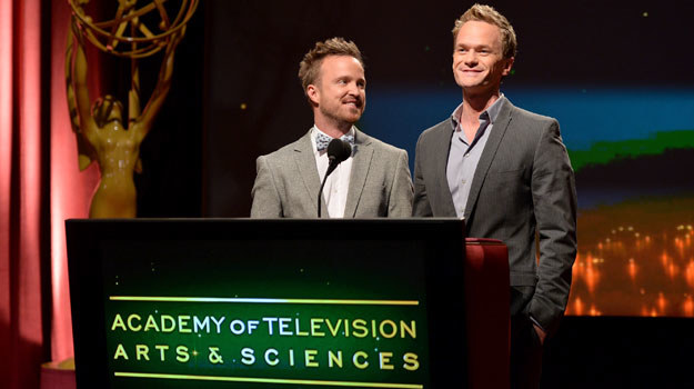 Neil Patrick Harris i Aaron Paul /Alberto E. Rodriguez /Getty Images